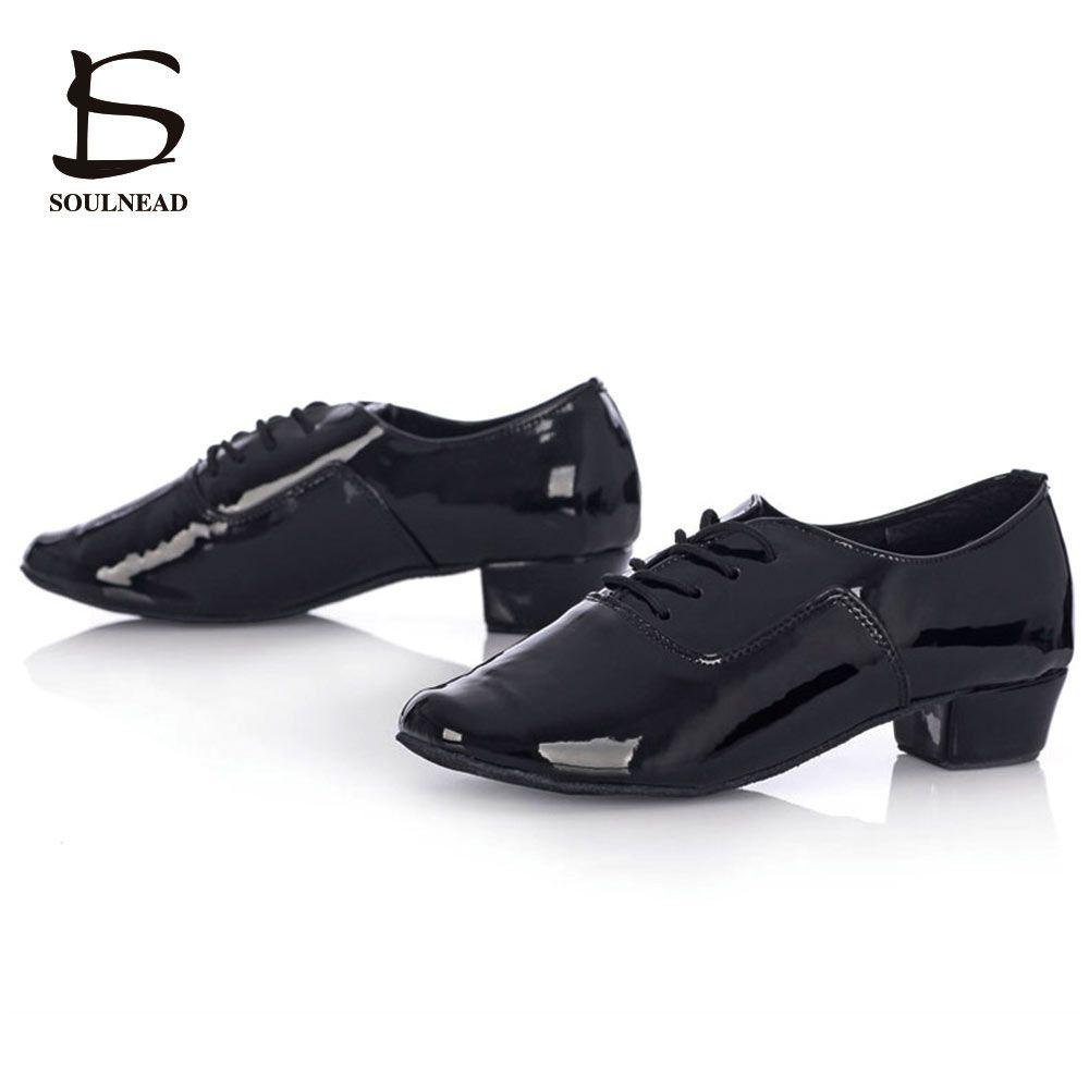 Chaussures de danse latine pour hommes chaussures de danse Salsa adulte pas cher chaussures de danse de Tango de salle de bal noir/blanc PU Zapatos de baile latino hombre