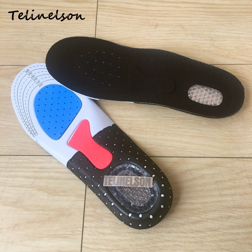 Size 35-39 Orthotic Arch Support Sport Shoe Pad Sport Running Gel Insert Cushion Insoles for Protecting Men Women Foot