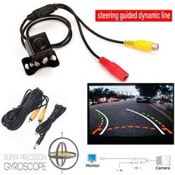 With steering Dynamic Guided Parking Line markings Car Rear View CCD Camera Back Len 135 degrees Wide-angle lens Waterproof IP67