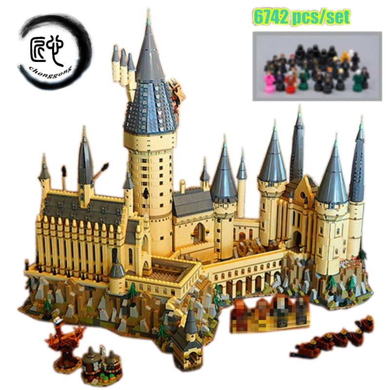 New Harry Magic Hogwarts Castle fit legoings harry potter castle city Building Blocks Bricks Kid 71043 diy Educational Toys Gift