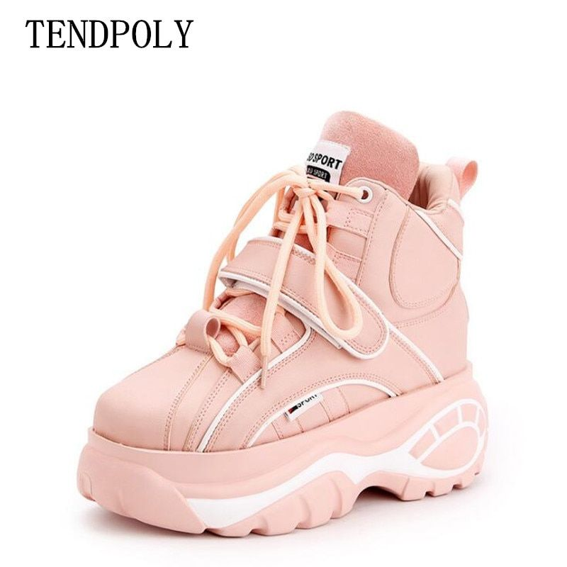 New Super fire fashion retro high-top Height increasing women's boots autumn winter thick-soled sell well casual women Booties