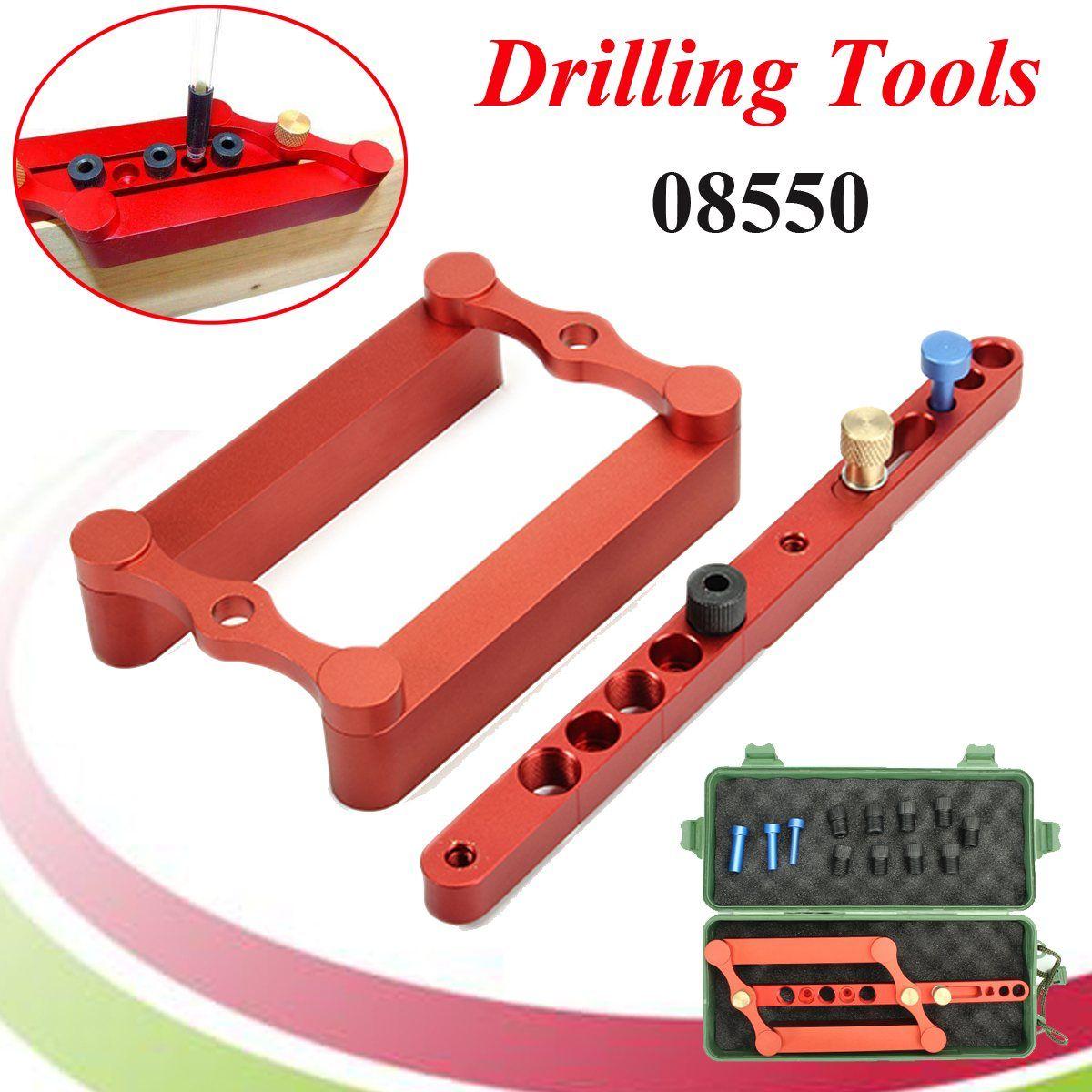Metric Dowels 6/8/10mm Precise Drilling Tools Woodpeckers Style MT Dowel Jig Self Centering Dowelling Jig