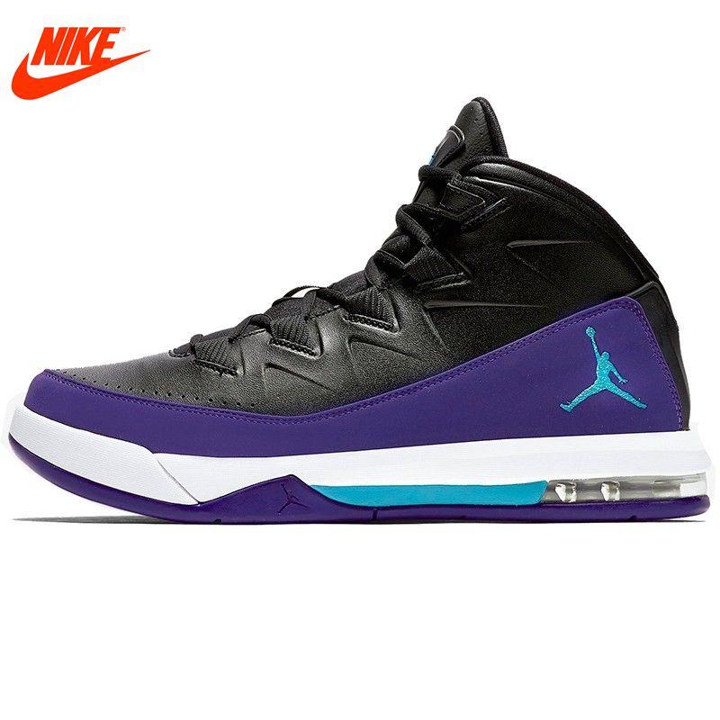 Оригинальный Nike мужская обувь дышащая баскетбол ПУ материал водонепроницаемый кроссовки