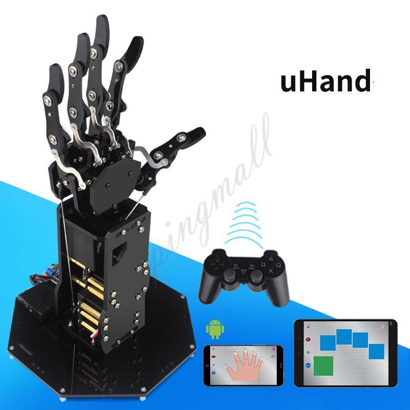 UHand Bionic Roboterhand Mechanische Arm Fünf Finger mit Steuerung für Robotics Lehre Ausbildung