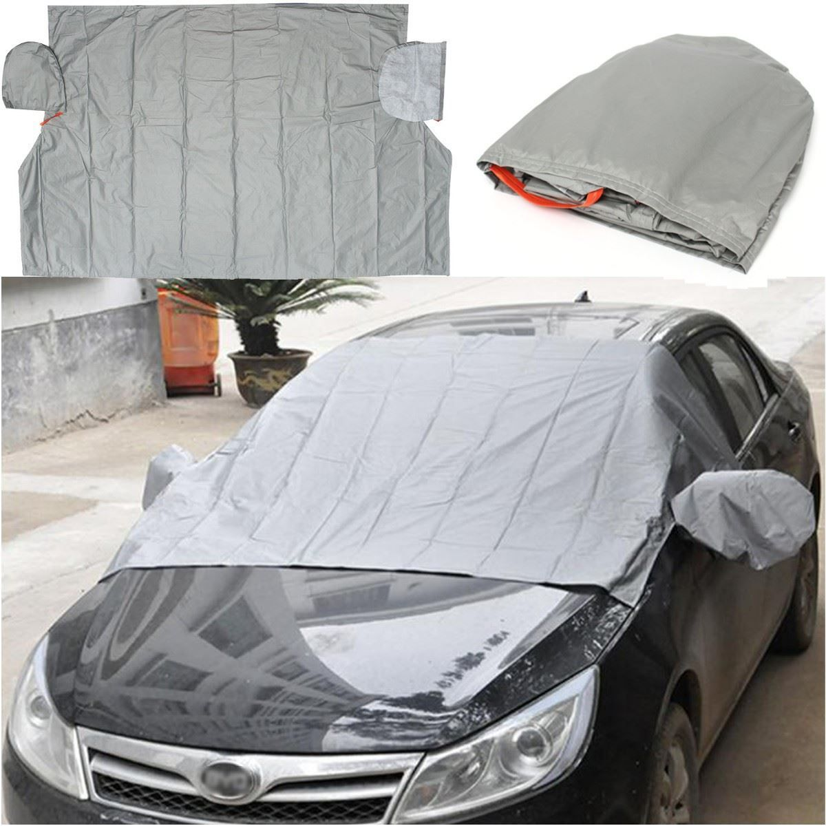 240x140cm Car Auto Front Windscreen Cover Generic Sun Shade PEVA Rain Frost Sunshade Dust Hook Up Shield