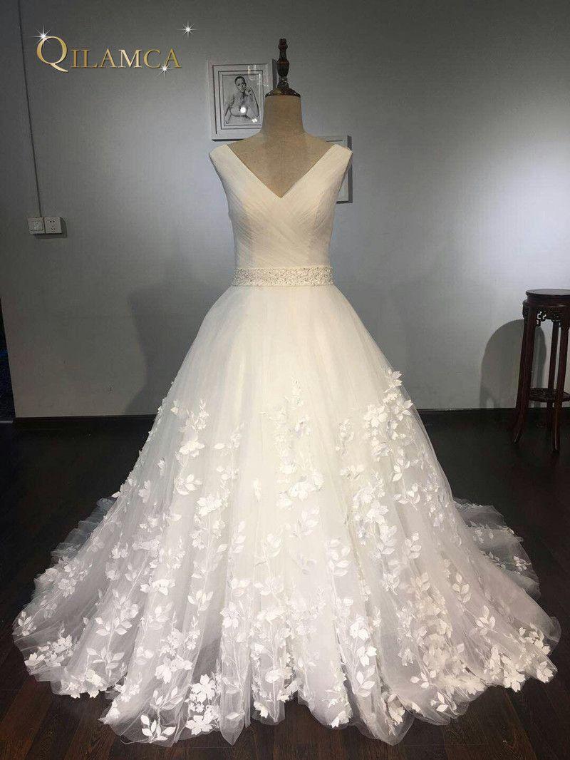Vestido de noiva vintage plus größe brautkleider Ärmelloses brautkleid Appliques Spitze brautkleider 2018