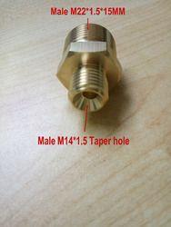 Mobil washer one end M14 * 1.5 lubang lancip Laki-laki lain end Pria thread M22 * 1.5*15 MM Lubang dia.15mm 100% tembaga