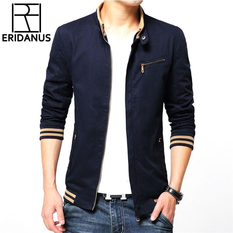 Brand Jacket Men 2017 Fashion Male Jackets Solid Stand Collar Zipper High Quality Jacket Coats Mens Jackets Windbreaker 4XL X381