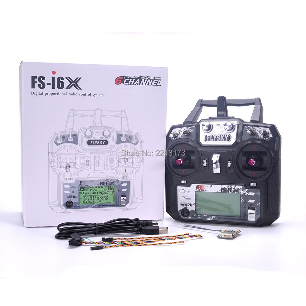 Flysky FS-i6X FS I6X 2.4GHz 10CH RC Transmitter With i-BUS IA6B X6B A8S IA10B Receiver For RC Heli Quadcopter Airplane model 2