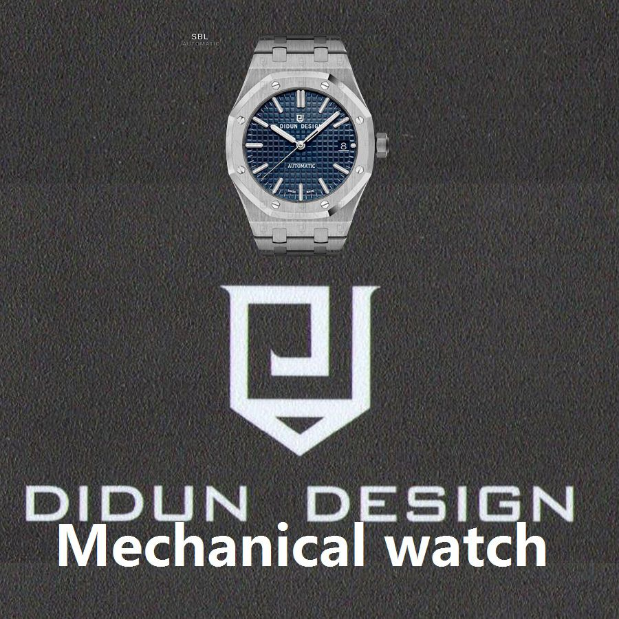 DIDUN Mens Automatic <font><b>Mechanical</b></font> Watches Top Brand Luxury watches Men Steel Military Watches Male Business Wristwatch waterproof