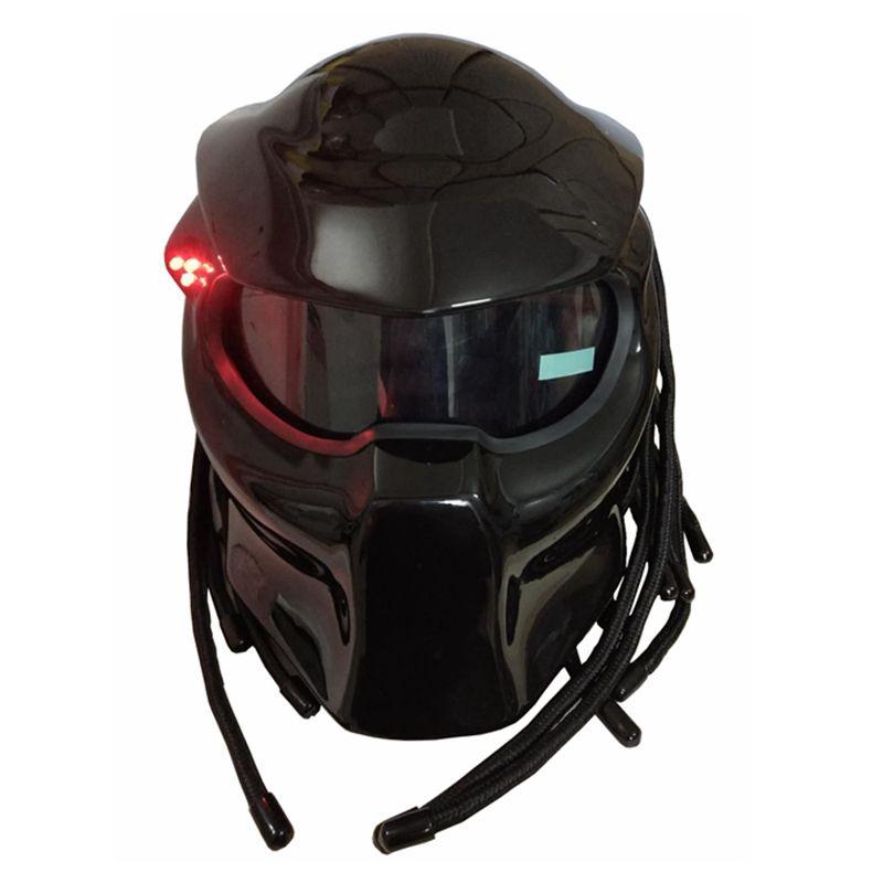 Masei 2017 Nouveau Noir Mat/Noir Brillant Prédateurs casque masque En Fiber De Verre moto Iron Man casque intégral moto casque
