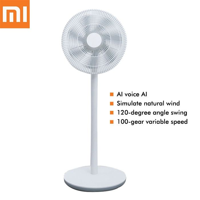 Xiaomi Mijia DC Frequency Conversion Floor Fan with 7 Fan Blades Intelligent AI voice control Floor Fans for Home