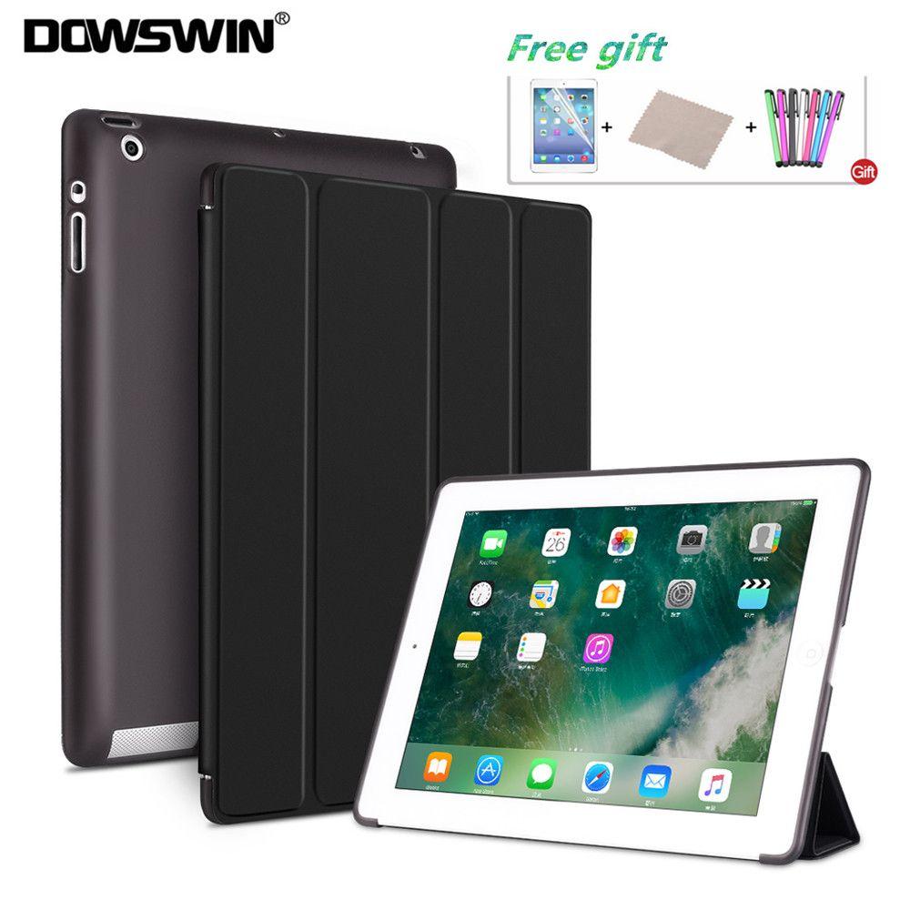 DOWSWIN Cas Pour iPad 2/3/4 Souple Couverture Arrière TPU Étui En Cuir Pour iPad 4 Flip Smart couverture Pour iPad 2 Cas Auto Sommeil/Réveil