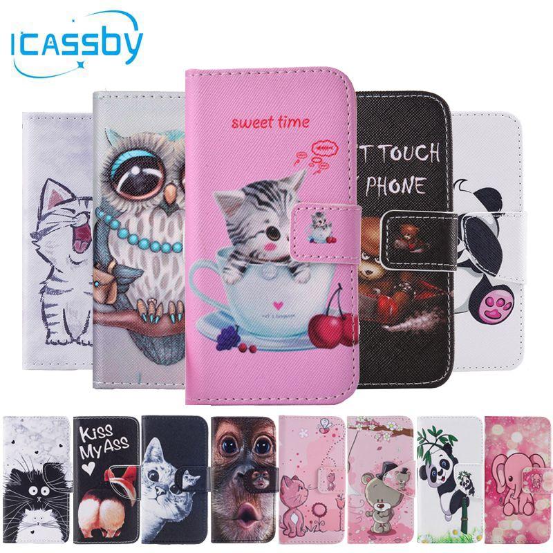 SFor Coque Samsung Galaxy S8 Fall Niedlichen Panda Cat Owl Leder Flip Wallet Phone Cases Für Samsung S8 S 8 G950f Abdeckung Etui Capinha