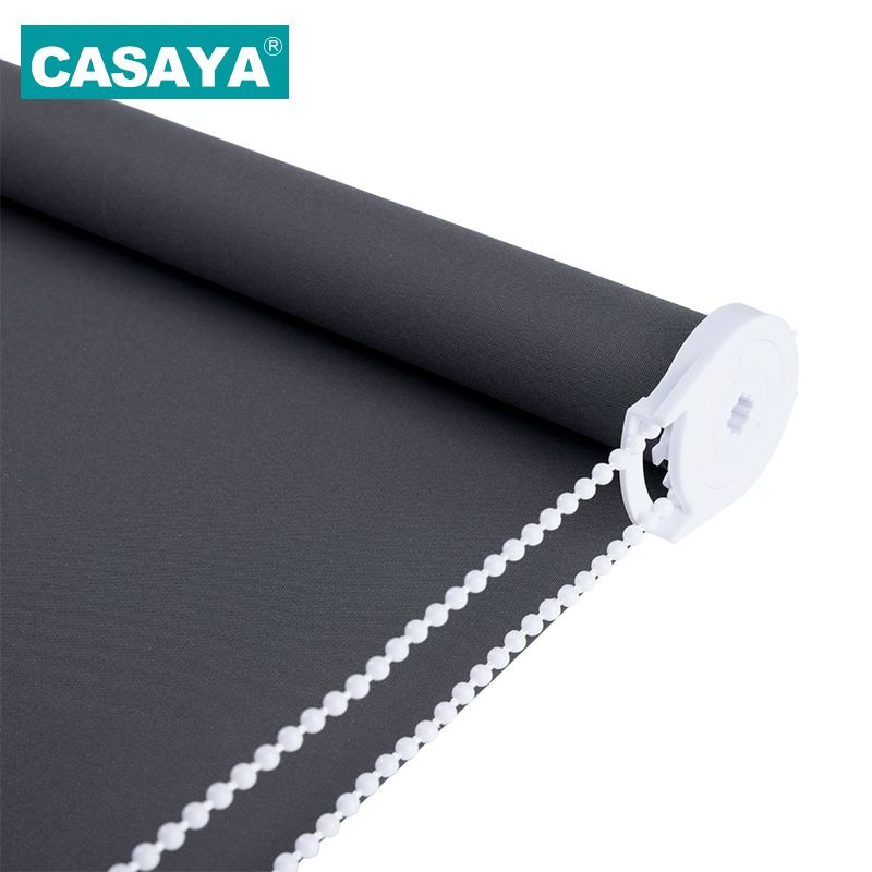 CASAYA Grey Blackout Roller Blinds Drill System Office Kitchen Bed Room Half shade or Full Shade window blinds Customized Size