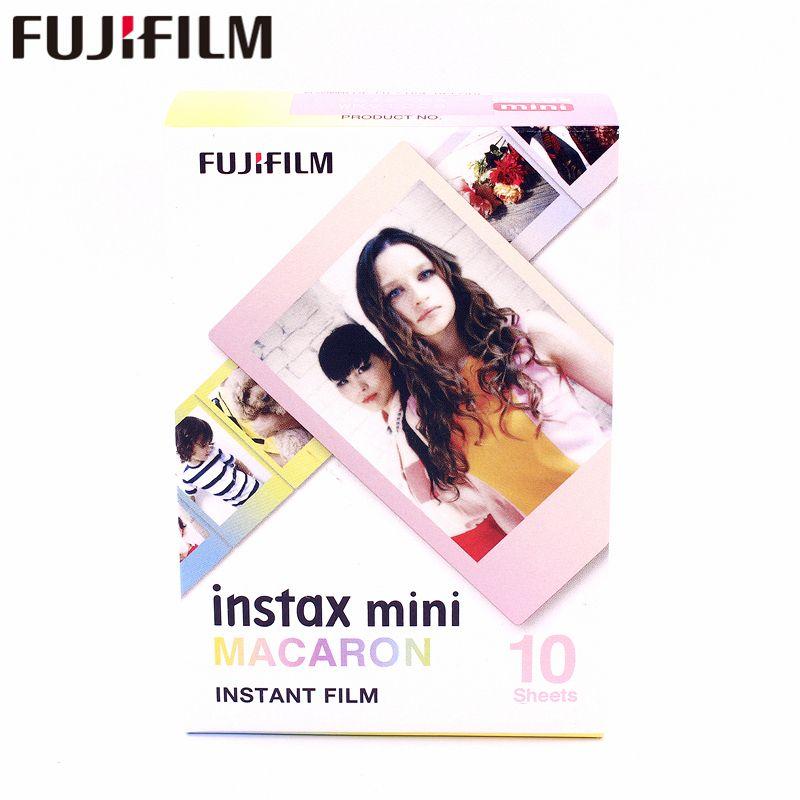 D'origine Fujifilm Fuji Instax Mini 8 MACARON Film 10 Feuilles Pour 7 7 s 8 9 50 s 7 s 90 25 Partager SP-1 Instant Caméras Nouveau arrivent