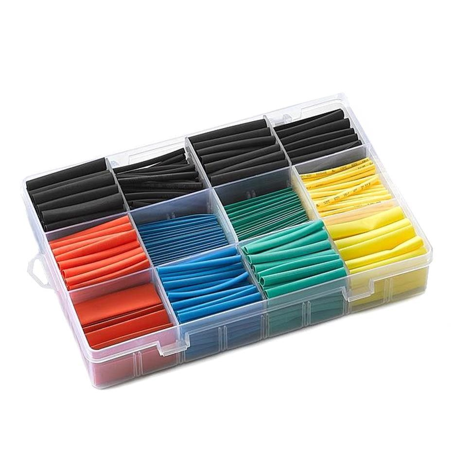 530/580 PCS Insulation Heat Shrink Tube  Assortment  Wire Cable Sleeve Kit  heat shrink tube DIY Connector Repair