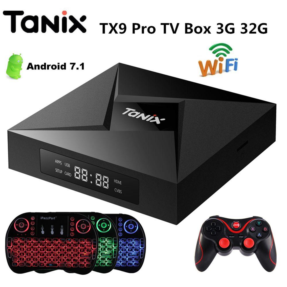 Tanix TX9 Pro TV Box Android 7.1 OS 3G RAM 32G ROM Amlogic S912 Octa Core BT4.1 1000M LAN Media Player PK X96mini Set Top Box