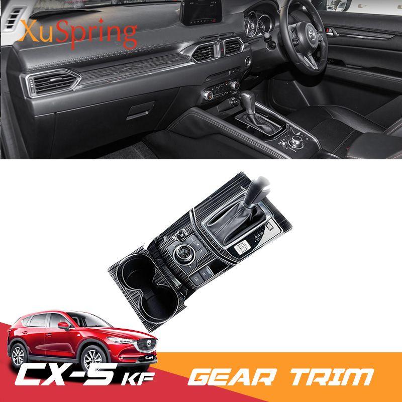 For Mazda CX-5 CX5 2017 2018 2019 KF RHD Car Gear Shift Box Panel Trim Frame Cover Stickers Strips Garnish Refit Styling