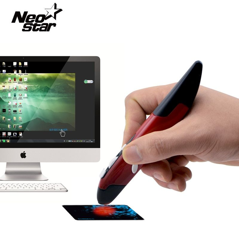 2 en 1 Mini sans fil USB stylo optique souris Laser pointeur réglable 500/1000 DPI pour PC ordinateur portable bureau PPT