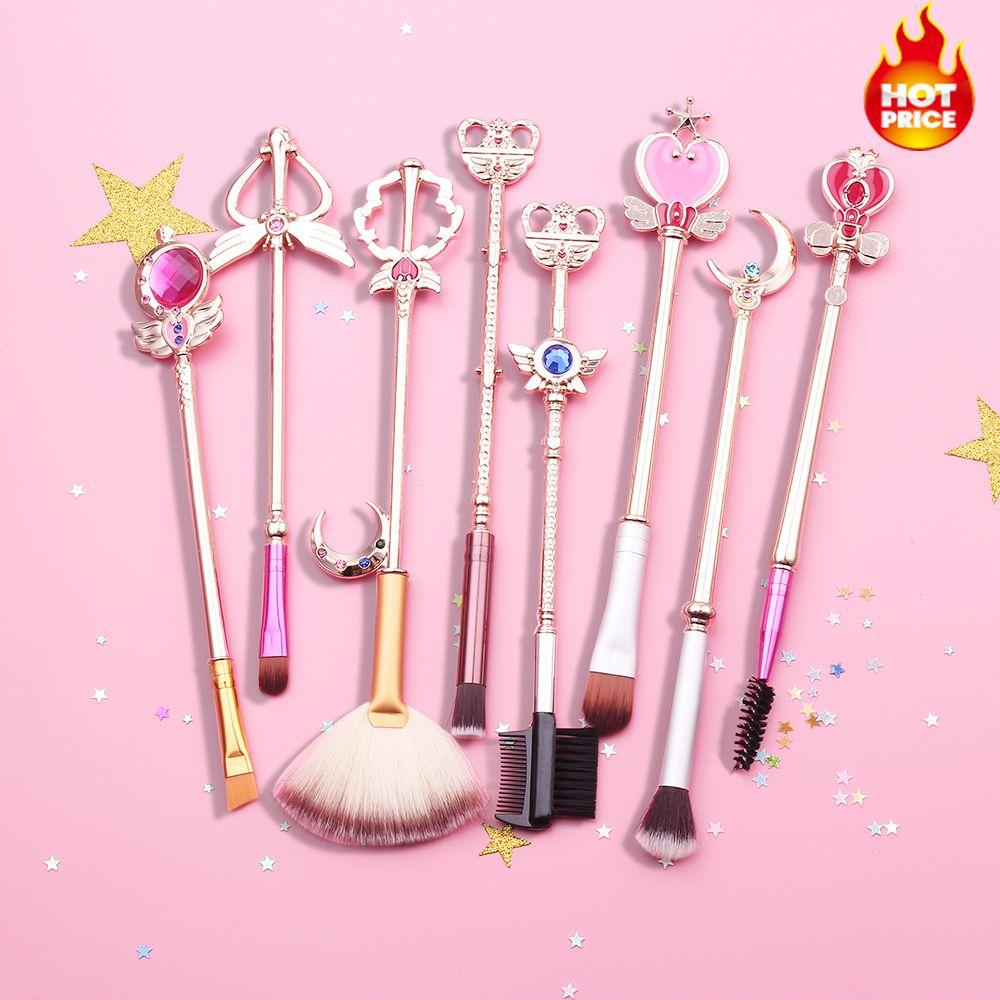 Makeup Brushes Set Sailor Moon Cosmetic Kit Pincel Maquiagem Makeup Brushes Tools Eye Liner Shader Eyebrow Soft Synthetic Hair
