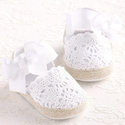ROMIRUS Bébé Fille Nouveau-Né Chaussures Printemps Été Doux Très Léger Mary Jane Grand Arc Tricoté de Ballerine De Danse Robe Landau Lit chaussures