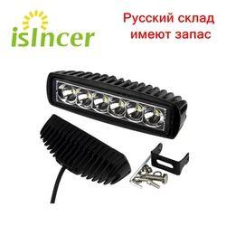 Neue 18 W 12 V LED Arbeit Licht Bar Strahler Flutlicht Lampe Fahren Nebel Offroad LED Work Auto Lichter für jeep Toyota SUV 4WD Boot Lkw