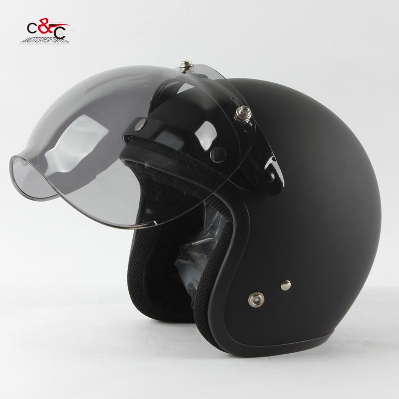 Free shipping 3-snap open face helmet visor vintage motorcycle helmet bubble shield visor Can be used with TORC TT & CO helmet