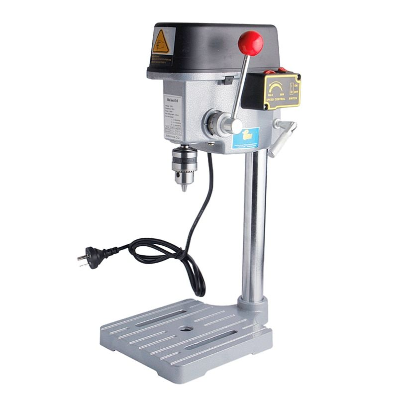 High Speed Mini Drilling Machine 340W Bench Machine Table Bit Drilling Chuck 1-10mm For Wood Metal Electrical Tools