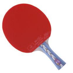 Double Ikan Muka 5A-C Tenis Meja Selesai Raket Dayung 5 Ply Kayu Murni Raket Serangan Cepat dengan Loop ITTF Disetujui karet