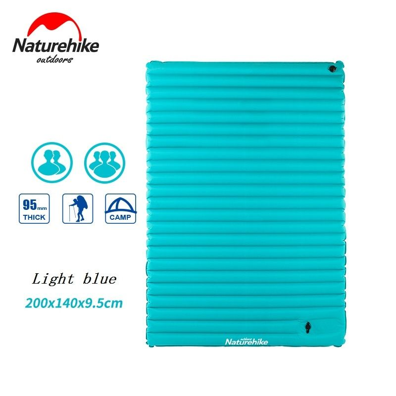 Naturehike Utralight Outdoor Camping Mat TPU Inflatable air Mattress Double 2 Person Portable Sleeping Pad Tent Air bed