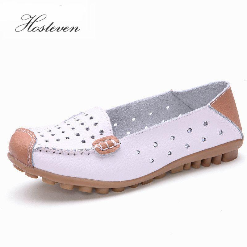 Новый Для женщин кожа Женская обувь Мокасины Лоферы для женщин для вождения мягкая обувь на плоской подошве для отдыха женская Балетные кос...