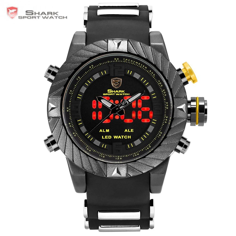 Luxury Goblin Shark Sport Watch Mens Outdoor Fashion Digital LED Multifunction Waterproof <font><b>Wrist</b></font> Watches Relogio Masculino /SH168