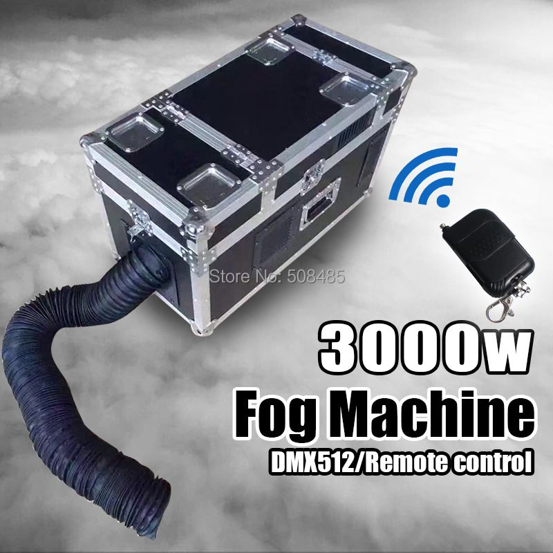3000W Water Fog Machine small size Water Smoke With DMX Remote Control Low Lying Water Fog Smoke Machine Stage Effect