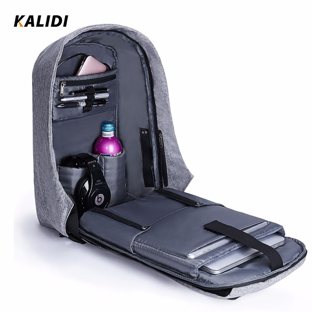 KALIDI Laptop Backpack Travel 15.6 -17.3 inch Waterproof Anti theft Backpack Men Multifunction Daypack USB 15-17 Inch School Bag