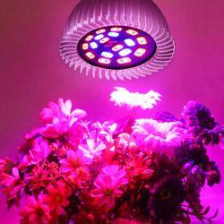 Espectro completo LED cfl crece la luz Lampada E27 E14 MR16 GU10 lámpara de interior de la planta floración hidroponía sistema IR UV jardín 110 V 220 V
