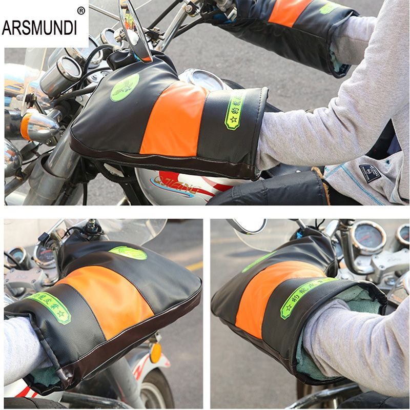 ARSMUNDI Winter Motorcycle Gloves Waterproof Warm Motocross Racing Motos Motorbike Cycling Glove luvas Guantes One Size