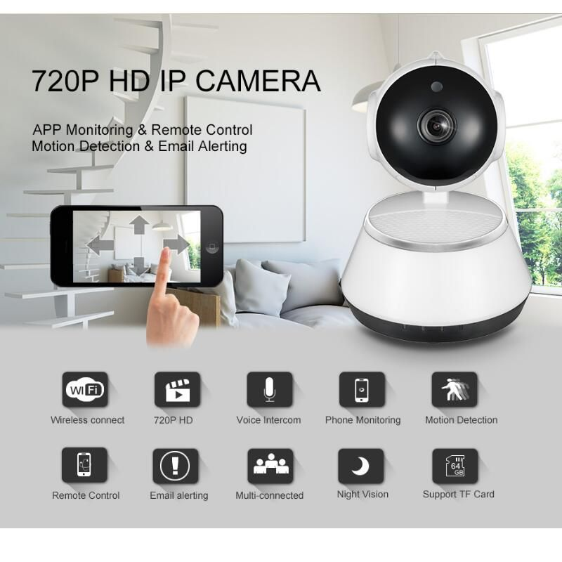 Video Surveillance Camera Wifi IP Camera HD 720P Security cameras Wireless Network Videcam Night Vision Wide Angle