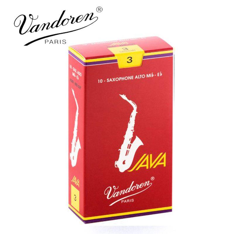 Original France Vandoren JAVA Alto Sax Red Reeds / Eb Alto Saxophone Reeds 2.5# 3.0# Box of 10 [Free shipping]