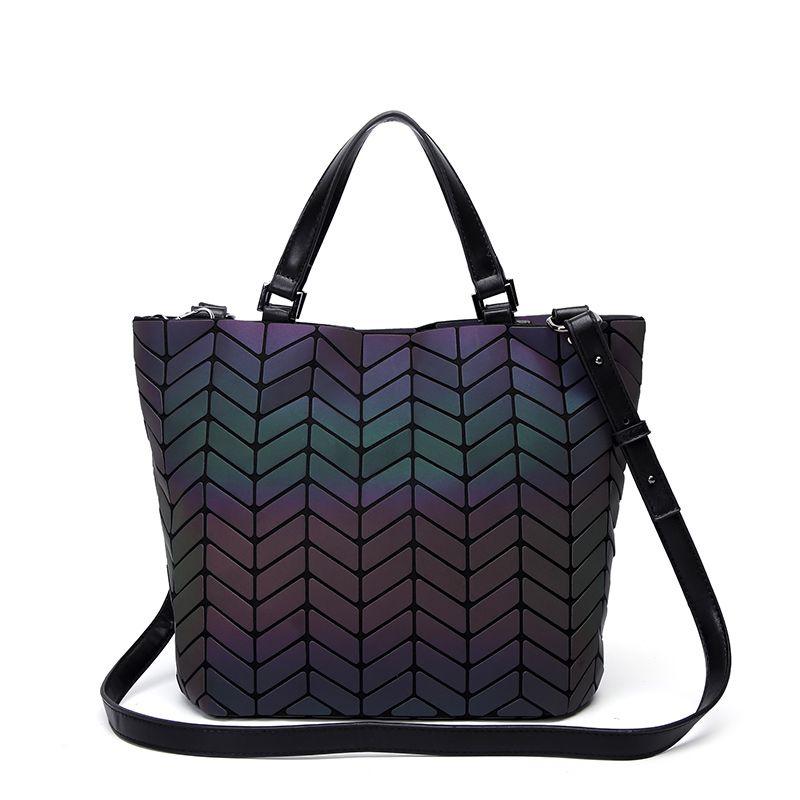 New Geometry Women Bags Luminous bao women's handbags Ladies Bucket Messenger Bag Handbag female Tote Japan Style Purse 2018