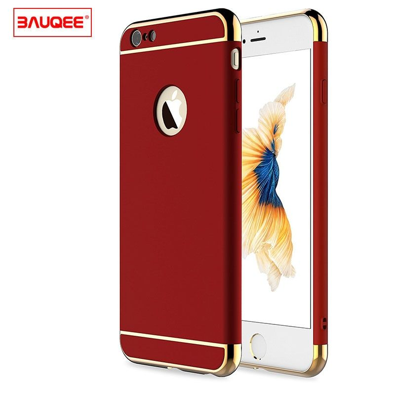 BAUQEE For Iphone 6 Case iphone 6S 6 plus case Luxury Smooth Matte Back Cover For Iphone 6 6S 6 S iphone6 Plus 6S