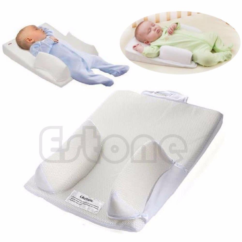 Le positionneur de sommeil infantile de bébé nouveau-né empêchent l'oreiller Anti-rouleau de forme de tête plate