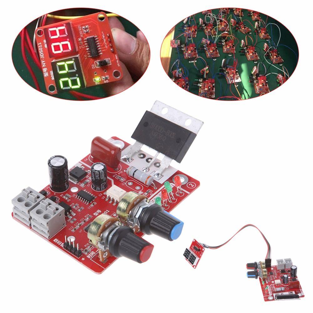 Punktschweißgerät Zeit Steuerkarte 100A Aktualisierung Strom Controller mit Digitalanzeige M25