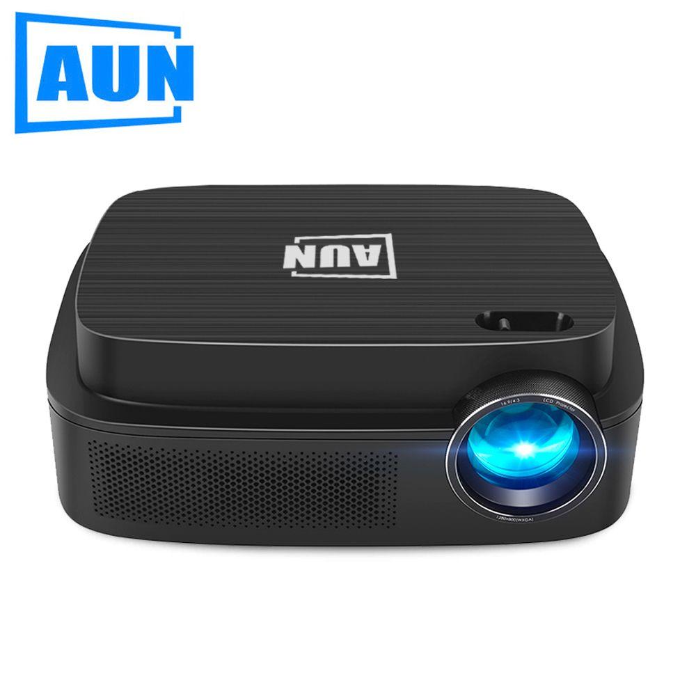 AUN Android 6.0 Projektor AKEY3 Plus, 1280*800 Smart Beamer Eingebaute WIFI, Bluetooth, HDMI, HIFI Lautsprecher. Optional AKEY3, LED TV