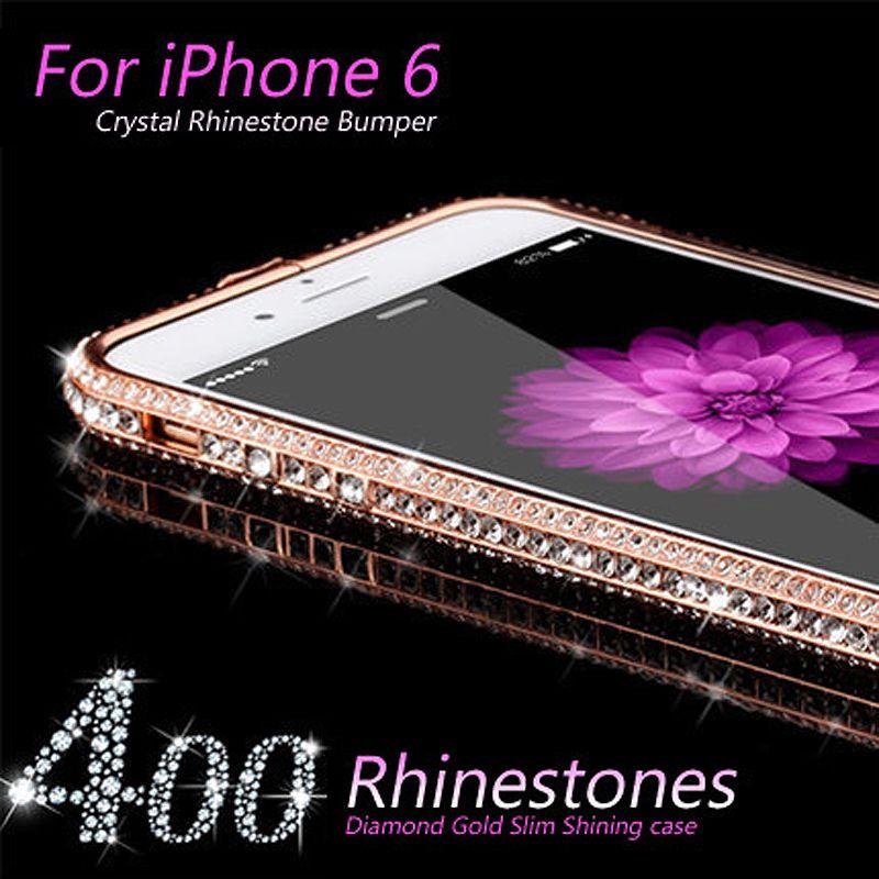 Gulynn Роскошный Кристалл Rhinestone Бампер Рамки для iPhone 5 5S SE Алмаз Золото Тонкий Сияющий Bling металлический корпус для iphone 6 6S плюс