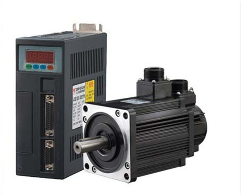 130mm AC Servo Drive + Motor Kits 1kw 10Nm 220v 1000rpm NEMA52 130ST-M10010 for Material Conveying Machine with 2 Years Warranty