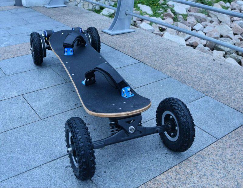 Vier Räder Elektrische Skateboard Doppel Motorleistung Elektrische Longboard Roller Angehoben bord e-scooter Hoverboard