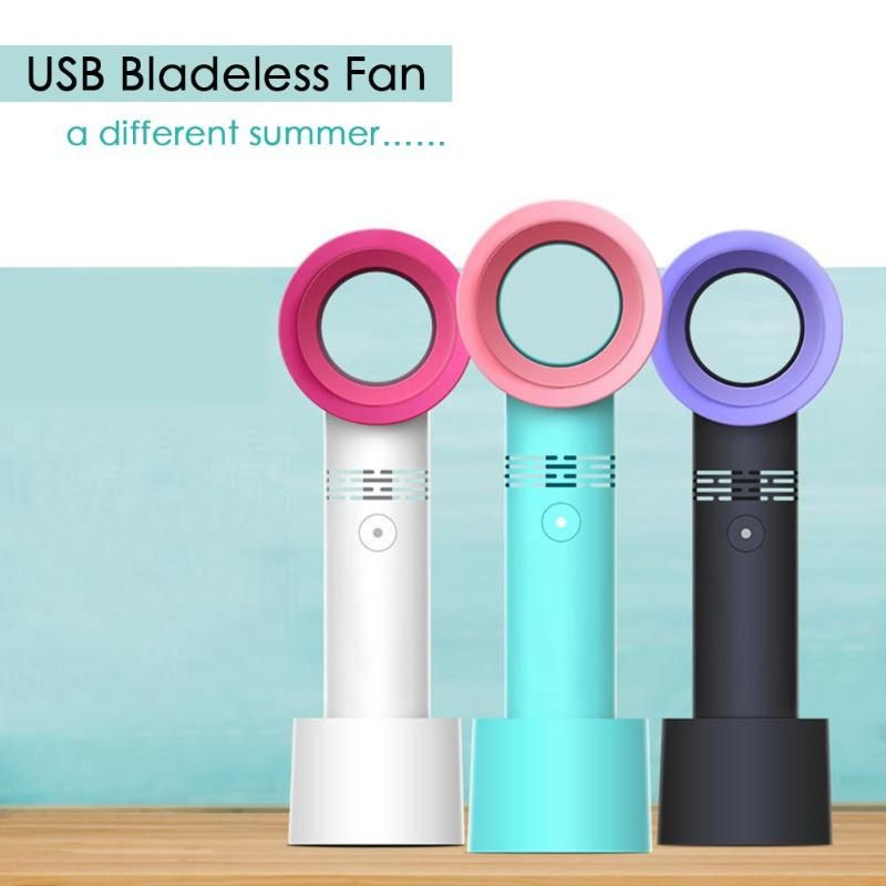 <font><b>Zero</b></font> 9 Handheld Mini Fan USB Bladeless Fan Portable Cooling Fan Summer Cooler No Leaf Ventilator 3 Speed Level LED Indicator