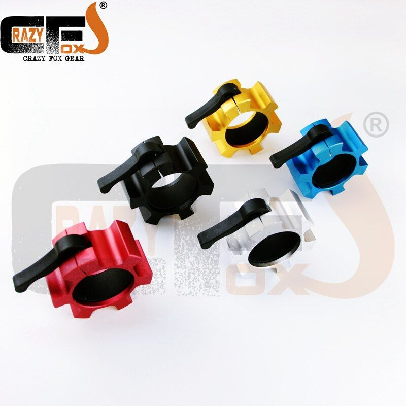Metal 50mm / 2 Lock Jaw collars standard <font><b>barbell</b></font> quick collars weight lifting xrossfit gym easy lock collars NPGL (NPFL)