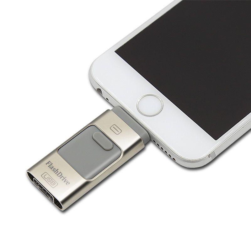 Para el iphone 6 6 s Más 5 5S ipad Pen drive de memoria de ALTA DEFINICIÓN palo de Doble propósito móvil OTG Micro USB Flash Drive 16 GB 32 GB 64 GB PENDRIVE